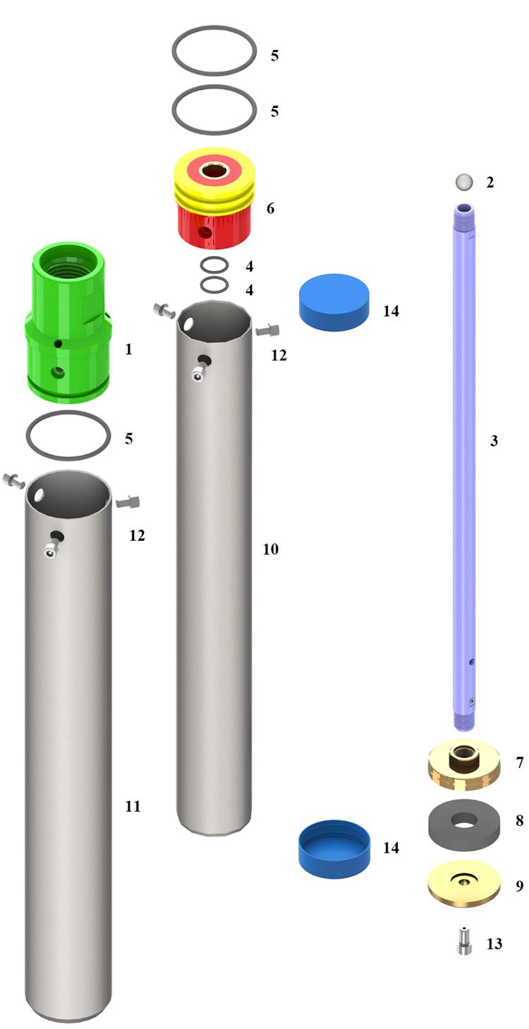 campionatore idraulico a pistoni